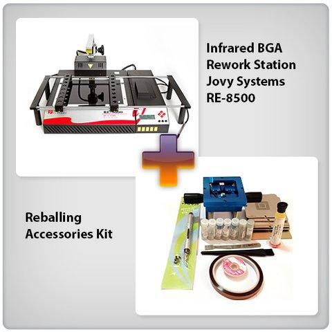 Estación de soldadura infrarroja Jovy Systems RE-8500 + Juego de accesorios para reballing