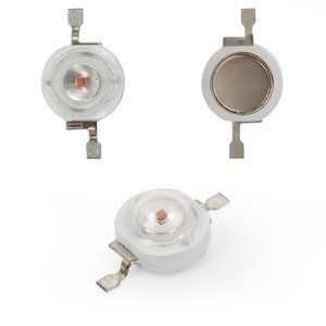 LED 1 W (yellow, 50 lm, 590 nm, 350 mA, 3.2-3.4 V)