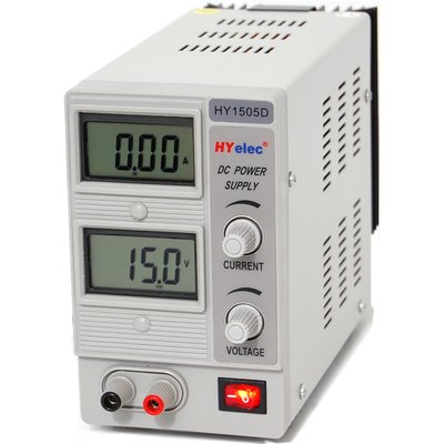 DC Power Supply  HYelec HY1505D ( LCD display ; 0-15V;0-5A )