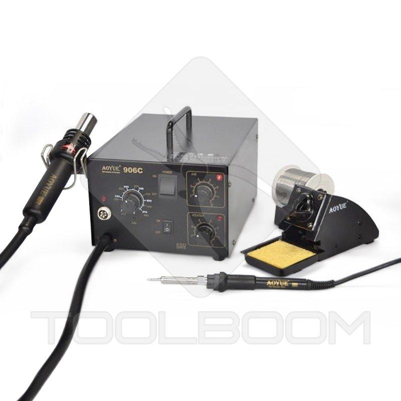 hot air soldering station aoyue 906c soldering iron soldering stations soldering equipment. Black Bedroom Furniture Sets. Home Design Ideas