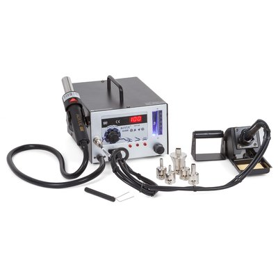 Hot Air Soldering Station AOYUE 968 with Soldering Iron and Smoke Absorber (220 V)