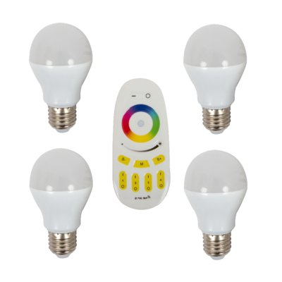 LED Light Bulb Set MiLight GR306 6W E27 CW + Remote Control MiLight GR307