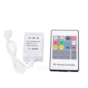 LED Controller with Radio Remote Control HTL-43 (RGB, 5050, 3528, 72 W)