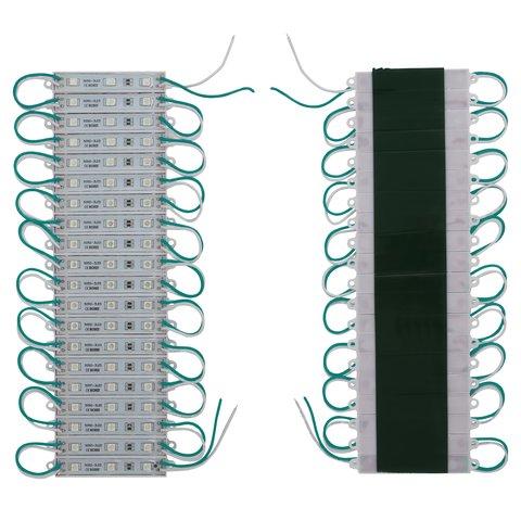 led strip module 20 pcs smd 5050 3 leds green adhesive 1200 lm 12 v ip65 toolboom. Black Bedroom Furniture Sets. Home Design Ideas