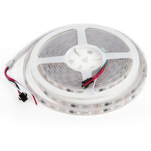 RGB LED Strip SMD5050, WS2811 (white, with controls, IP67, 12 V, 60 LEDs/m, 5 m)
