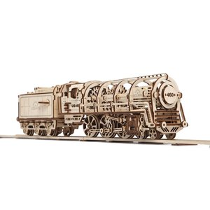 Mechanical 3D Puzzle UGEARS Locomotive with Tender