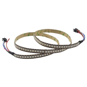RGB LED Strip SMD5050, WS2813 (with controls, black, IP20, 5 V, 144 LEDs/m, 1 m)