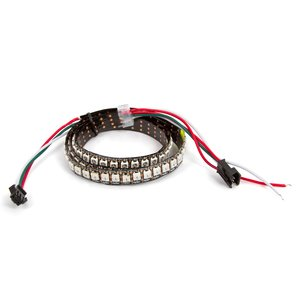 RGB LED Strip SMD5050, WS2812B (with controls, IP20, 144 LEDs/m, 1 m)