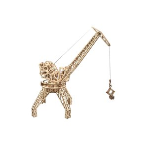 Mechanical 3D Puzzle Wood Trick Tower Crane